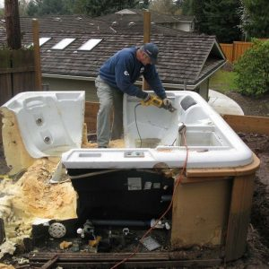 Hot tub removal service